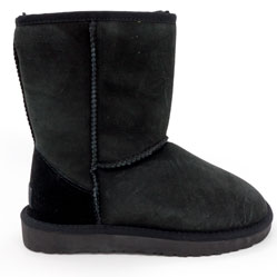 Высокие зимние женские UGG (Уги) черные замша - Топ качество!