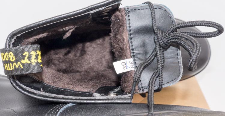 большое фото №6 Зимние Черные женские ботинки в Dr. Martens, натуральная гладкая кожа - Топ качество!