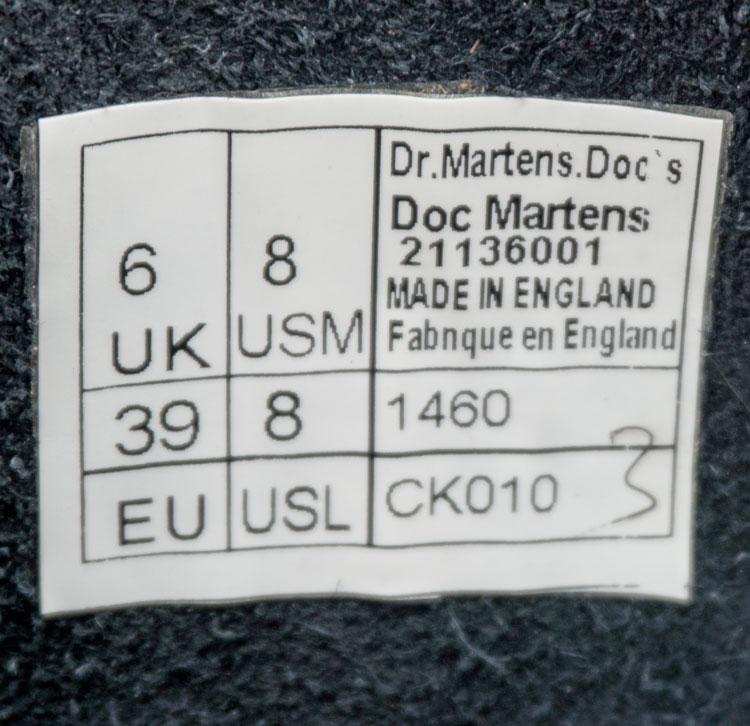 большое фото №6 Черные женские ботинки в Dr. Martens, натуральная гладкая кожа - Топ качество!