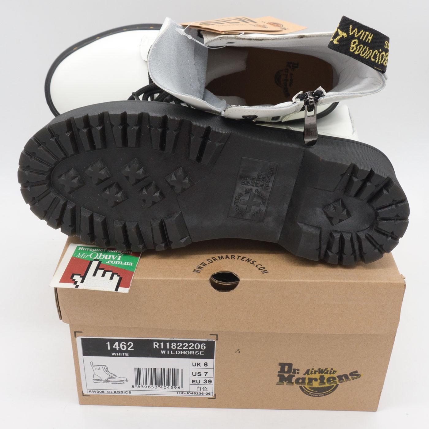 фото back Белые женские ботинки в Dr. Martens на платформе, натуральная кожа - Топ качество! back