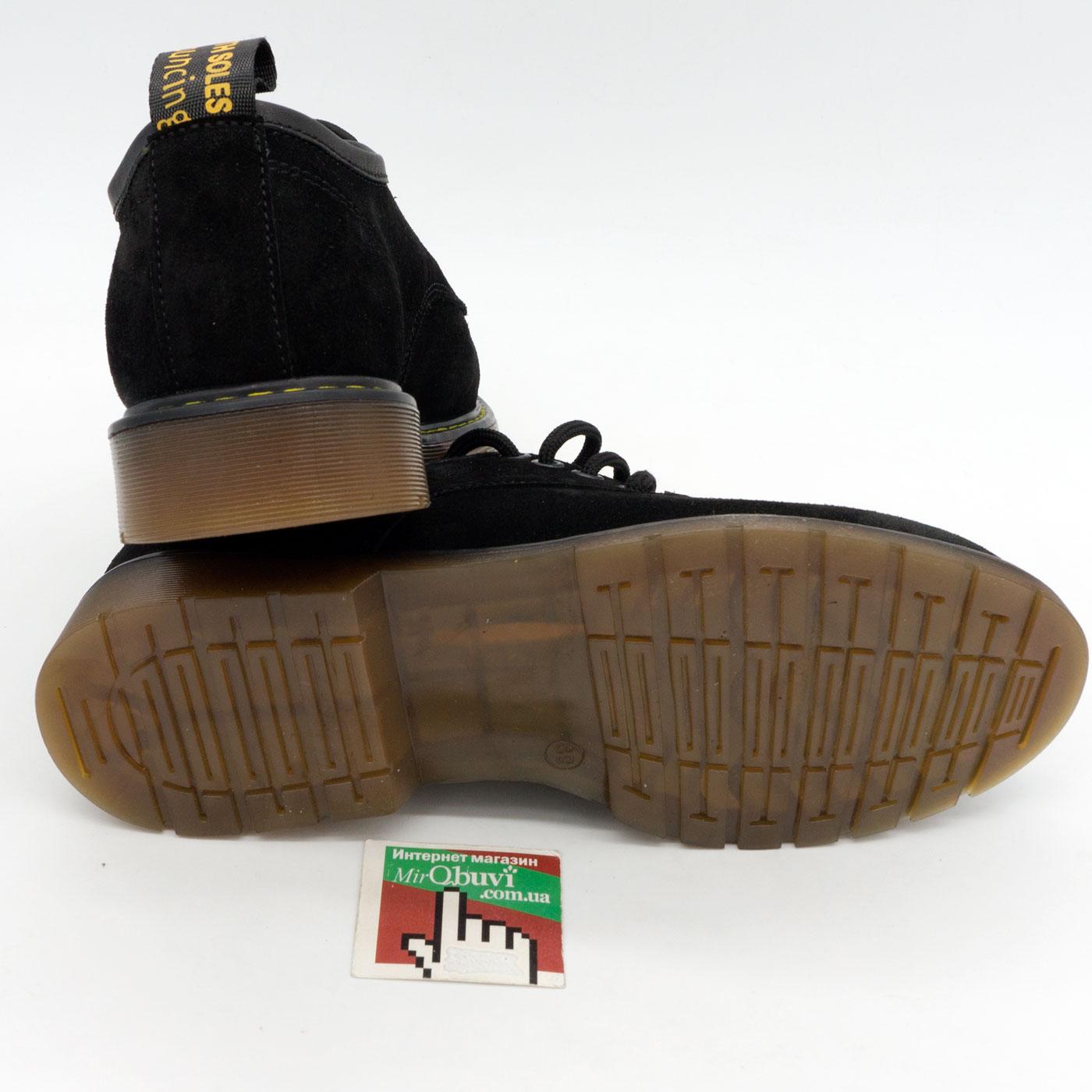 фото back Черные женские туфли Dr. Martens, натуральная замша back