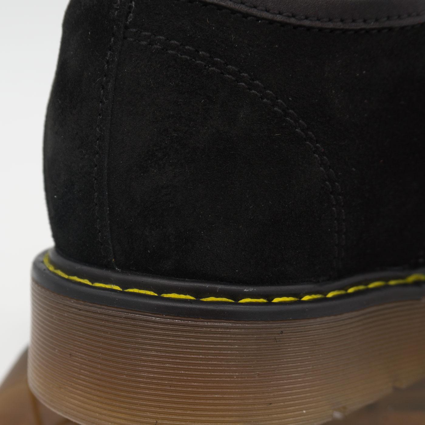 фото bottom Черные женские туфли Dr. Martens, натуральная замша bottom