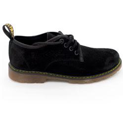 фото Черные женские туфли Dr. Martens, натуральная замша