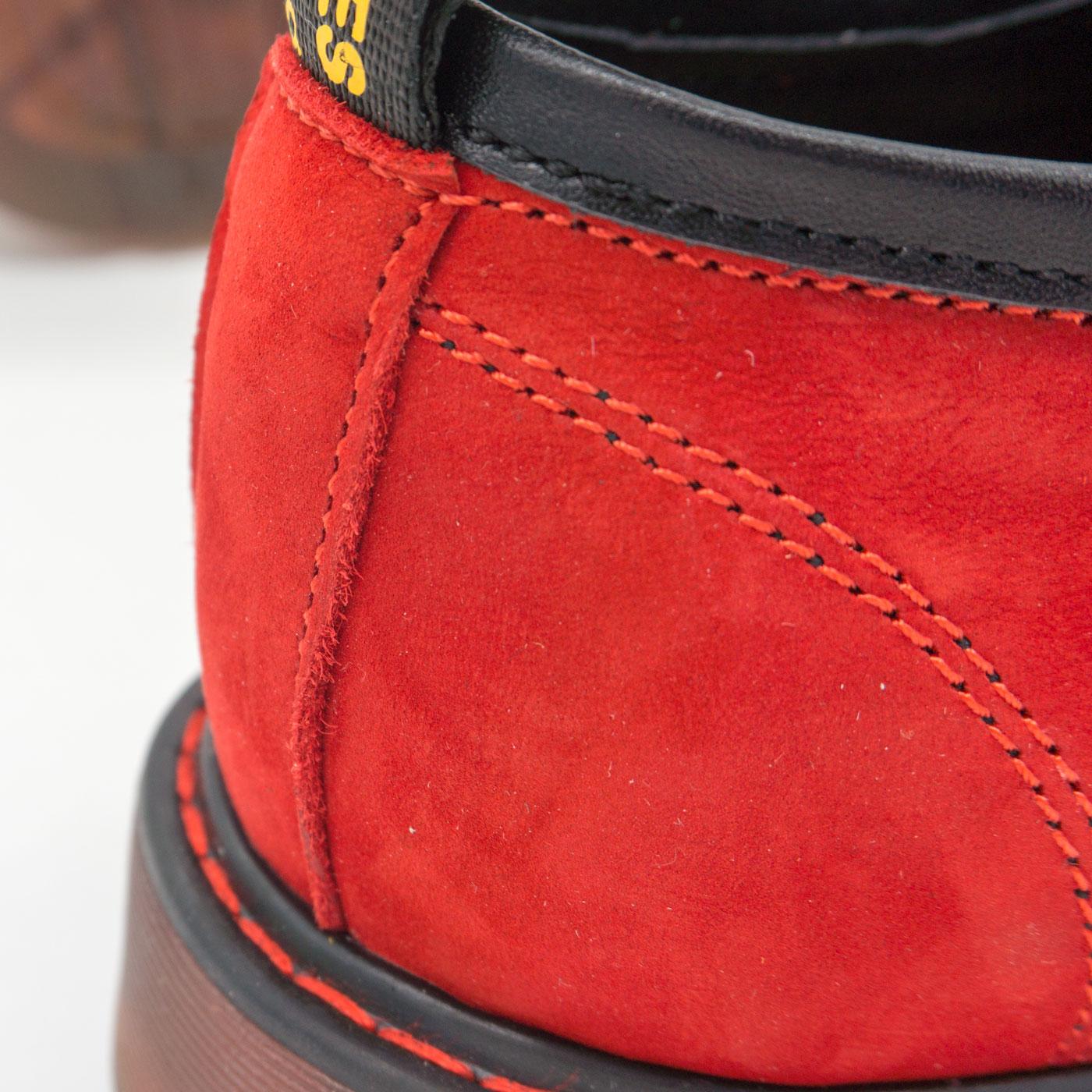 фото bottom Красные женские туфли Dr. Martens, натуральная замша bottom