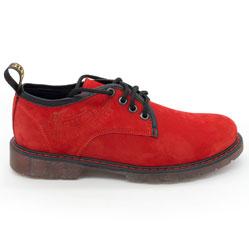 фото Красные женские туфли Dr. Martens, натуральная замша