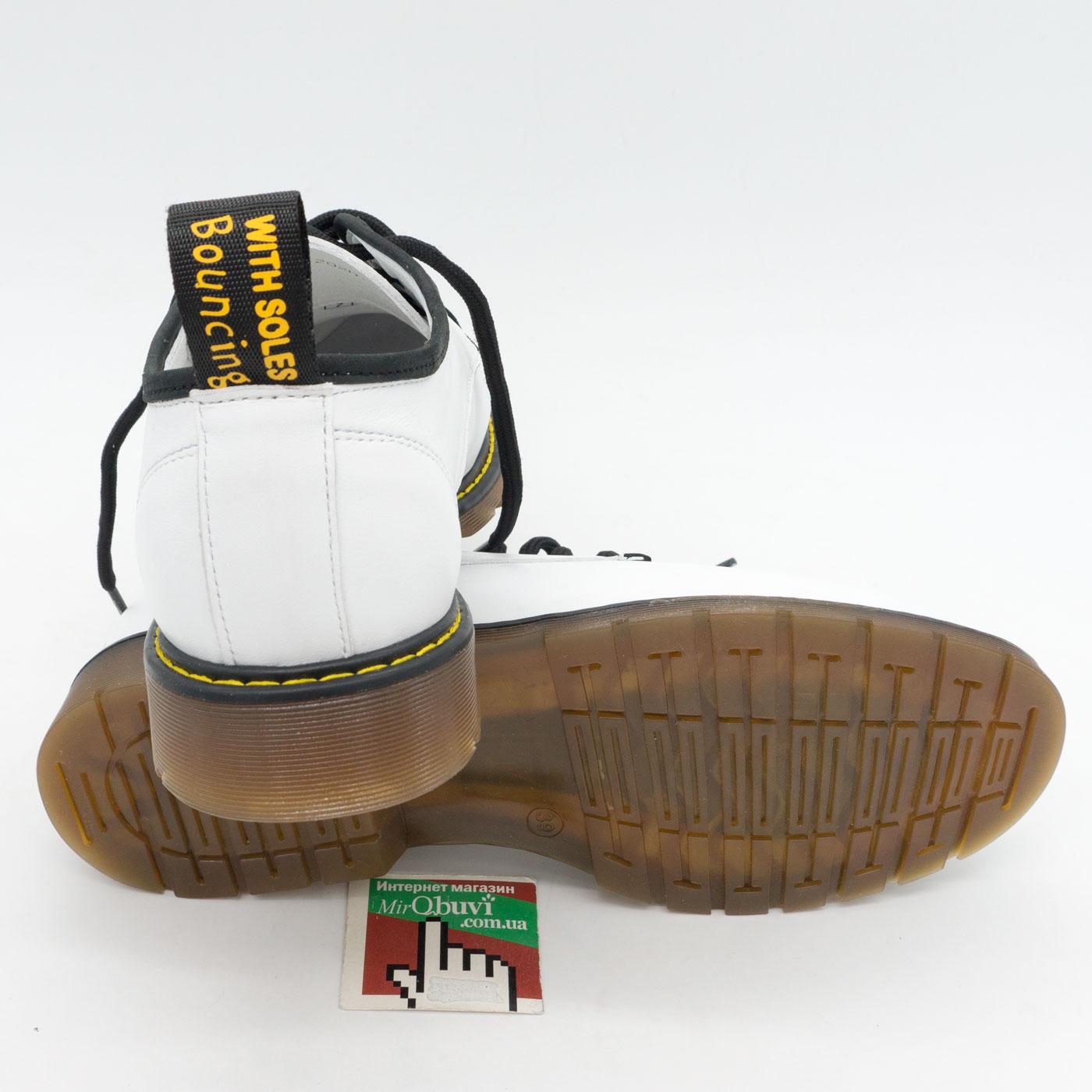 фото back Белые женские туфли Dr. Martens, натуральная кожа back