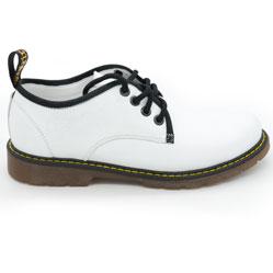 фото Белые женские туфли Dr. Martens, натуральная кожа
