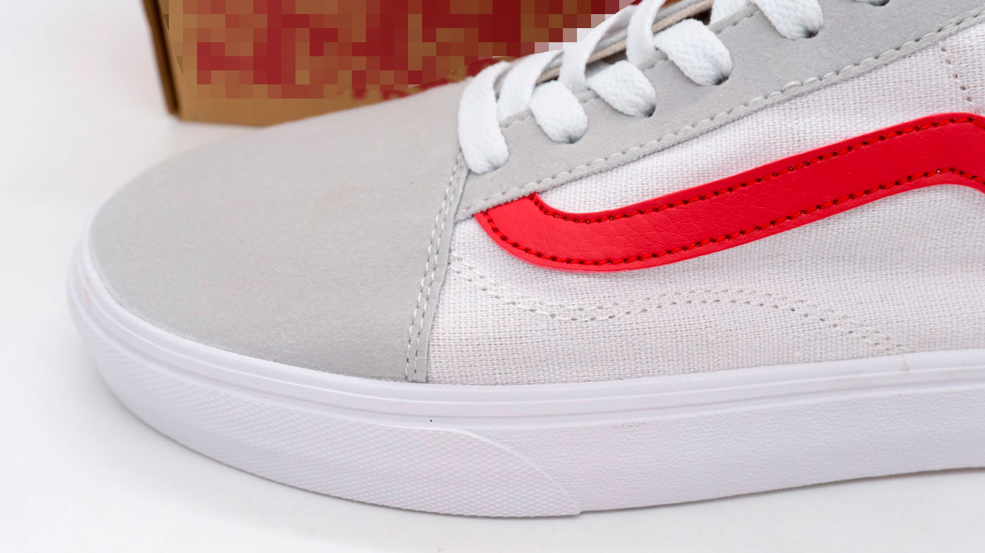 фото back Кеды Vens Classic old skool белые с красным, текстиль back