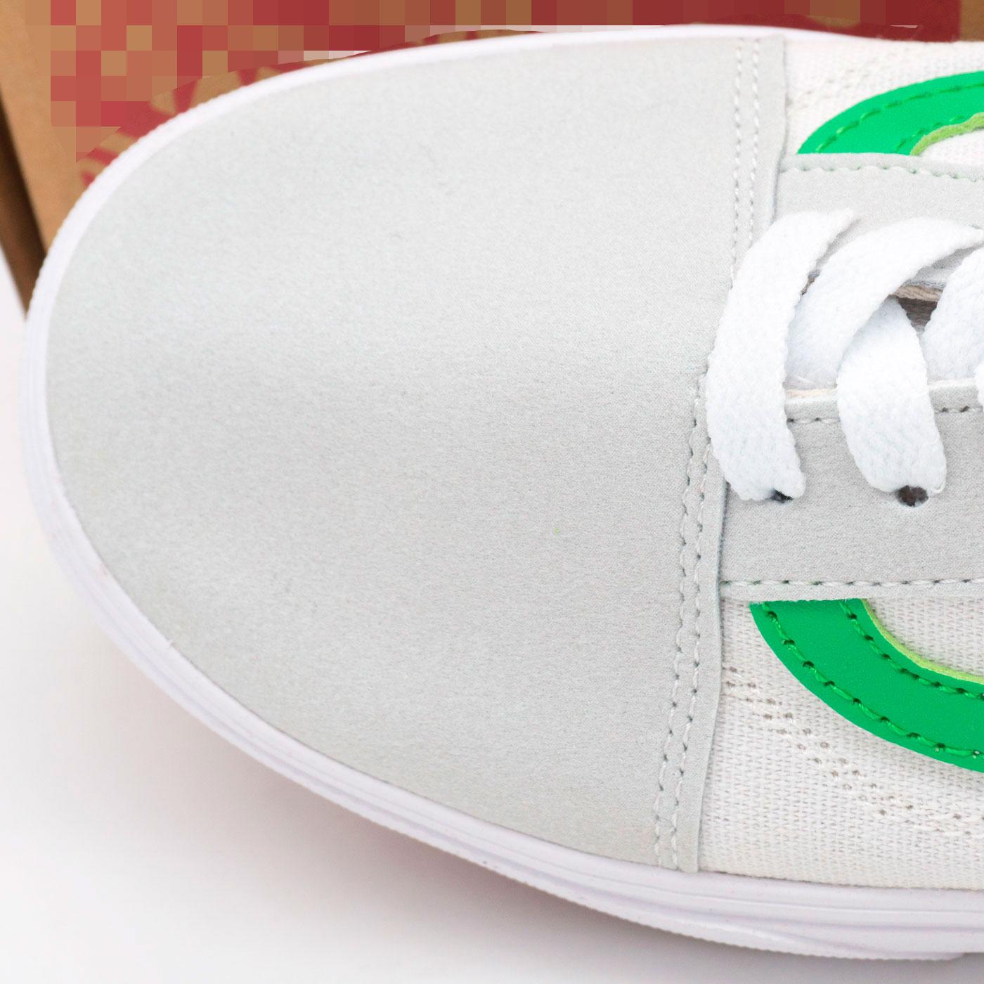 фото back Кеды Vens Classic old skool ванс олд скул белые с зеленым, текстиль back