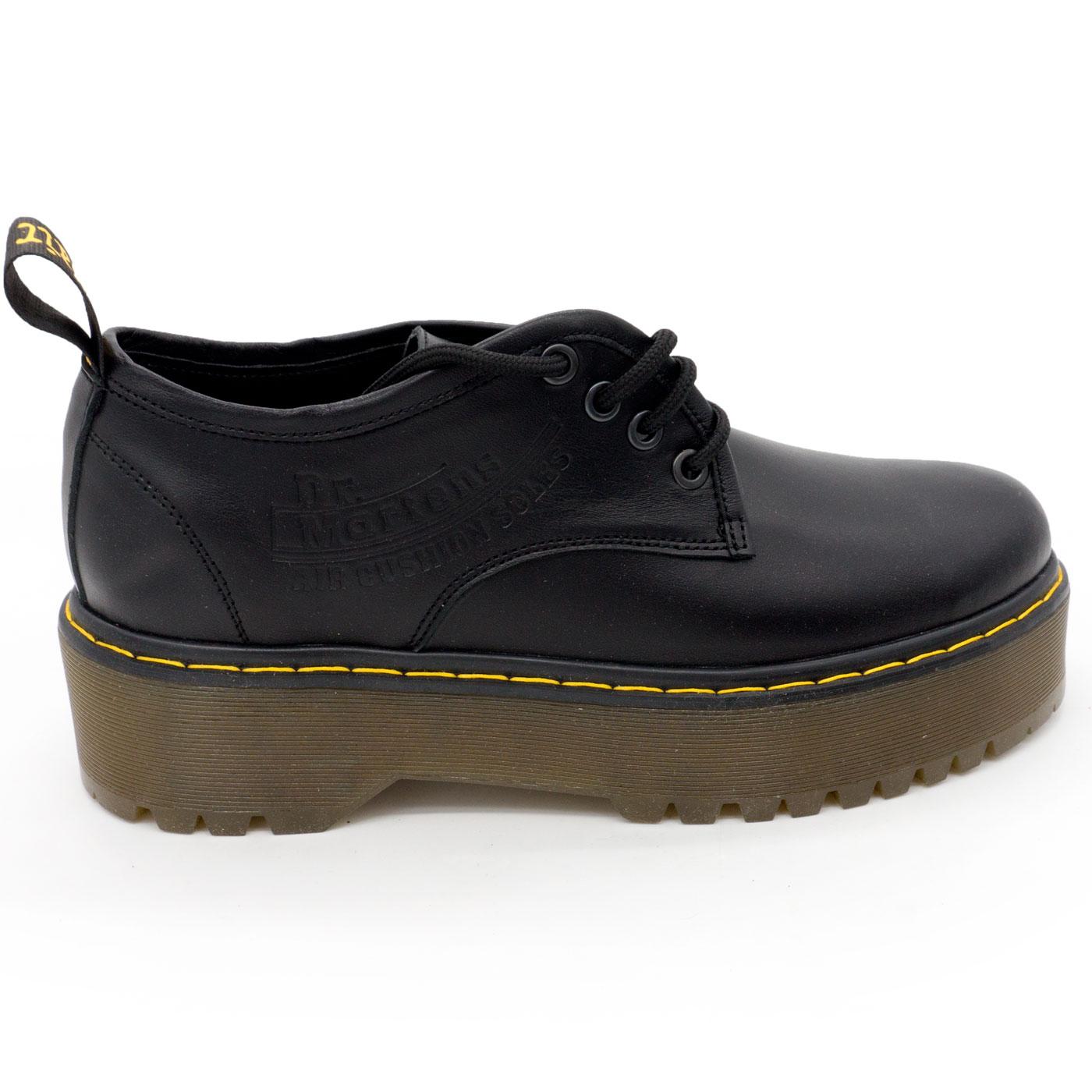 фото main Черные женские туфли Dr. Martens на платформе, натуральная кожа main