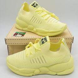 фото Женские кроссовки Loris Bottega WG-J02 лимонные.