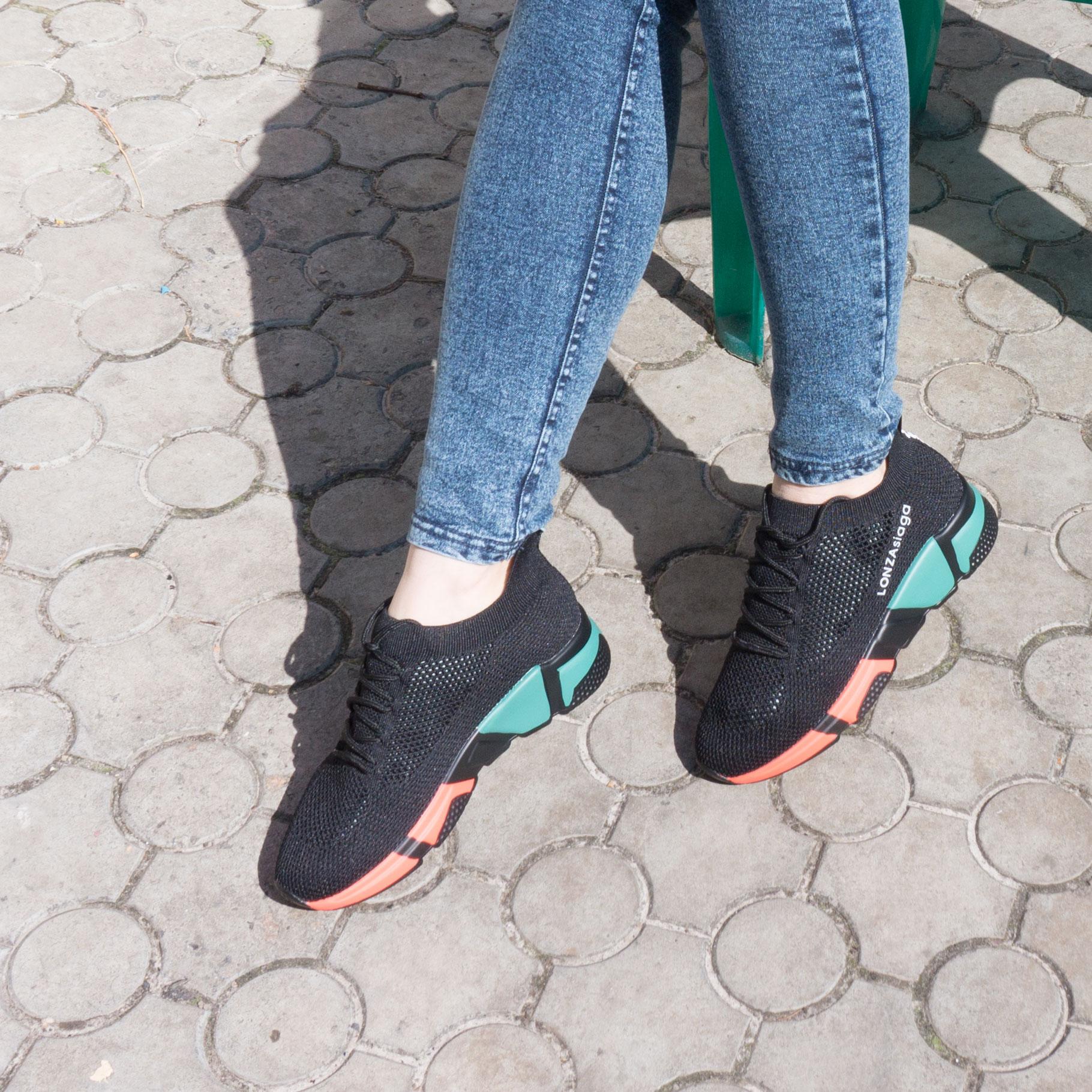 большое фото №5 Женские кроссовки Prima d'Arte Lonze yy8885 черные