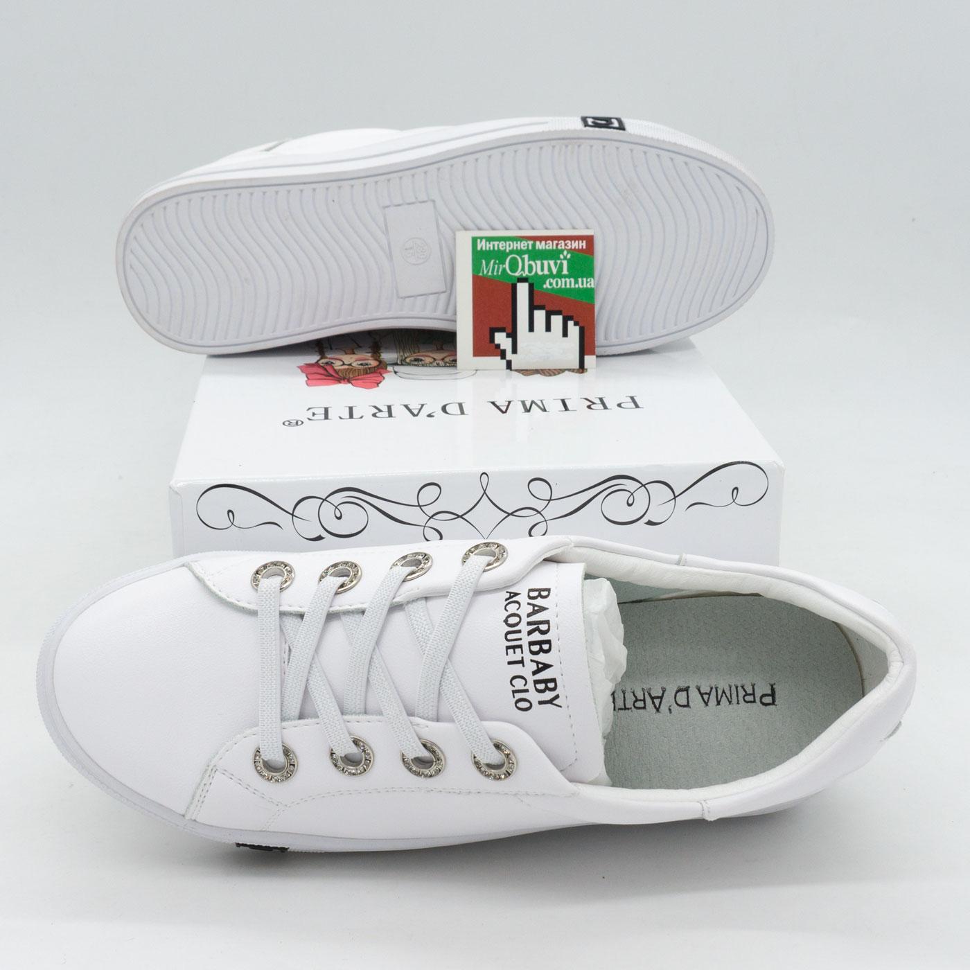 фото front Женские кроссовки Prima d'Arte FLM8093 белые front
