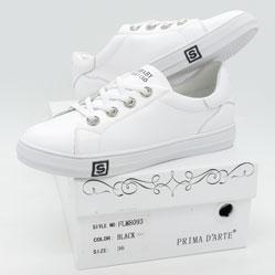 фото Женские кроссовки Prima d'Arte FLM8093 белые