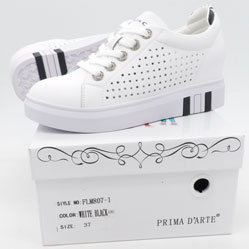 фото Женские кроссовки Prima d'Arte FLM807-1 белые