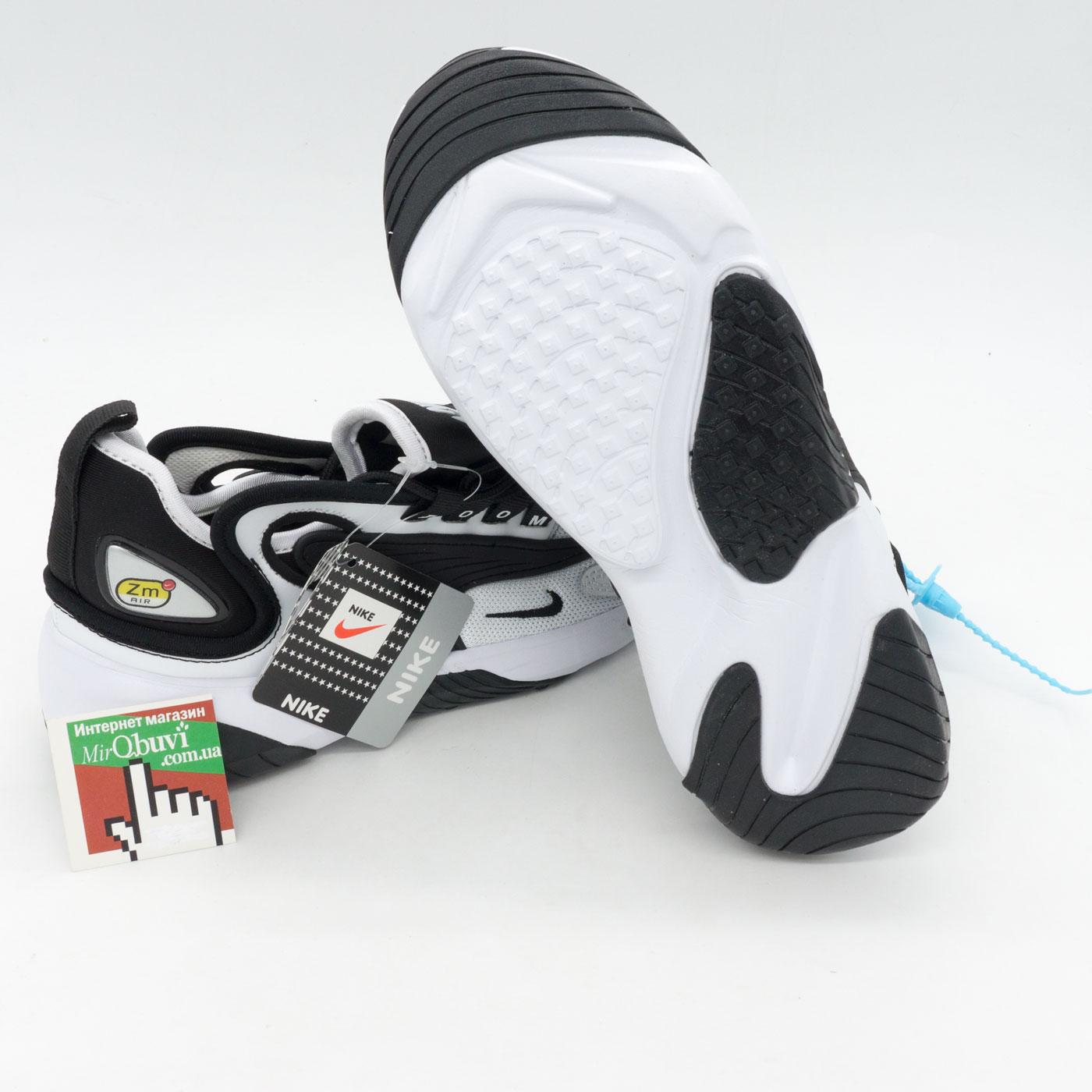 фото front Кроссовки Nike Zoom 2K черно белые front