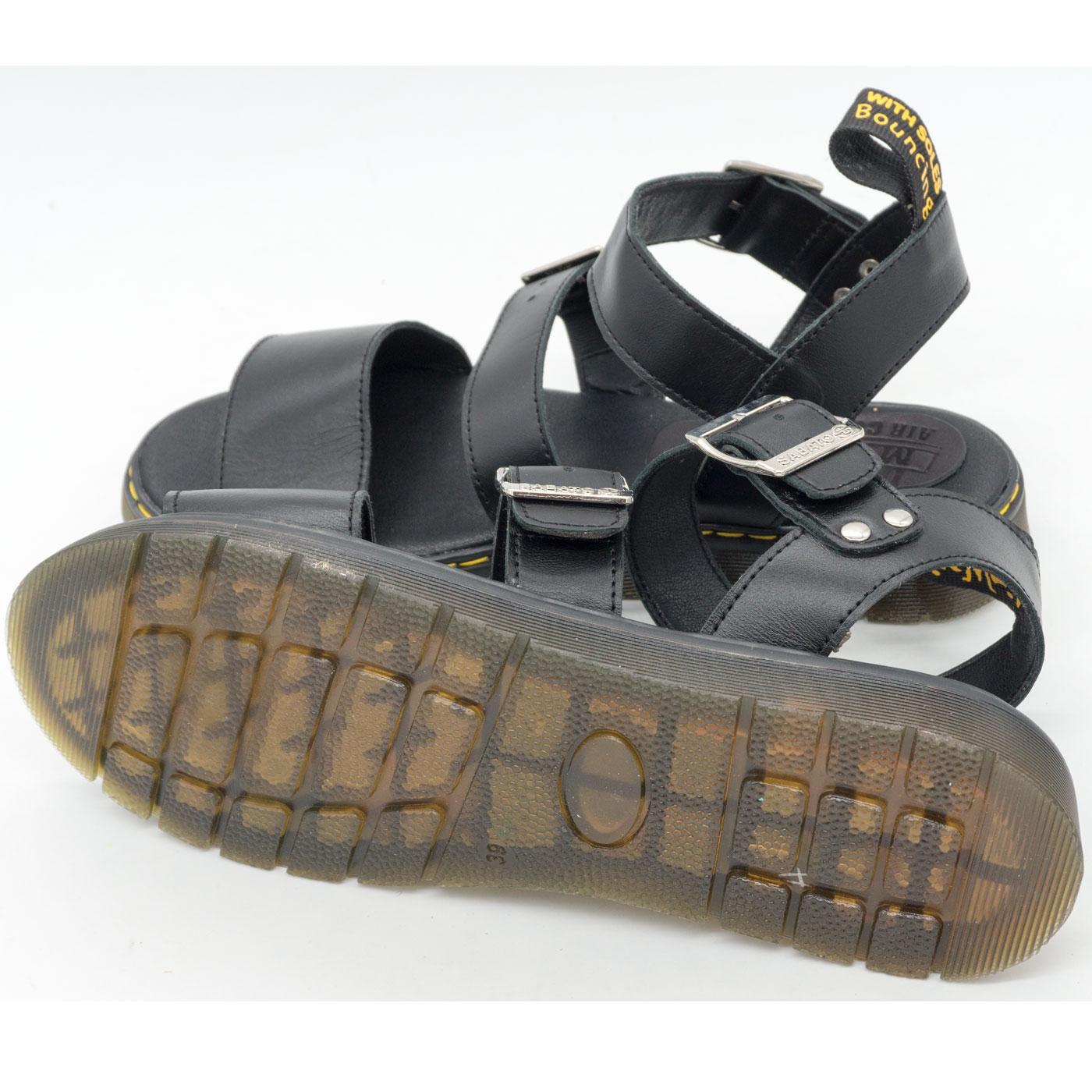 фото back Черные женские сандали Dr. Martens, натуральная кожа  back