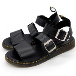 фото Черные женские сандали Dr. Martens, натуральная кожа