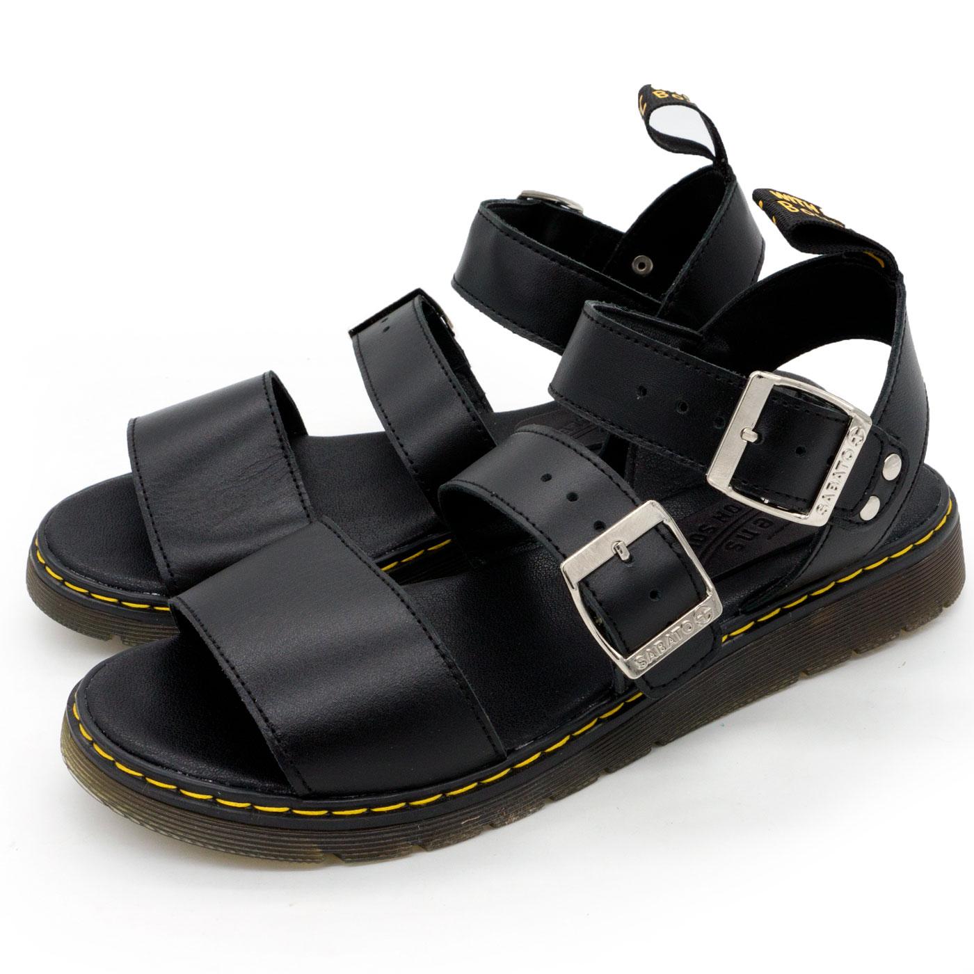 фото main Черные женские сандали Dr. Martens, натуральная кожа  main