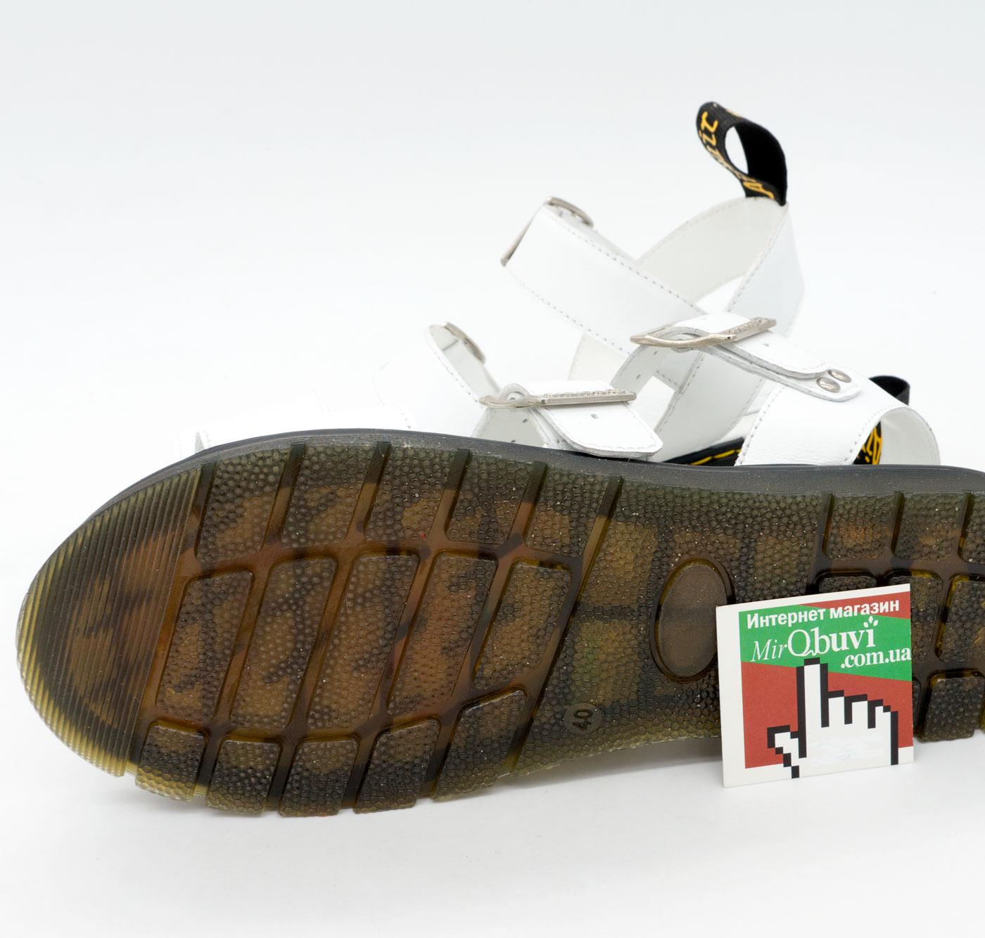 фото back Белые женские сандали Dr. Martens, натуральная кожа  back