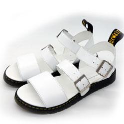 фото Белые женские сандали Dr. Martens, натуральная кожа