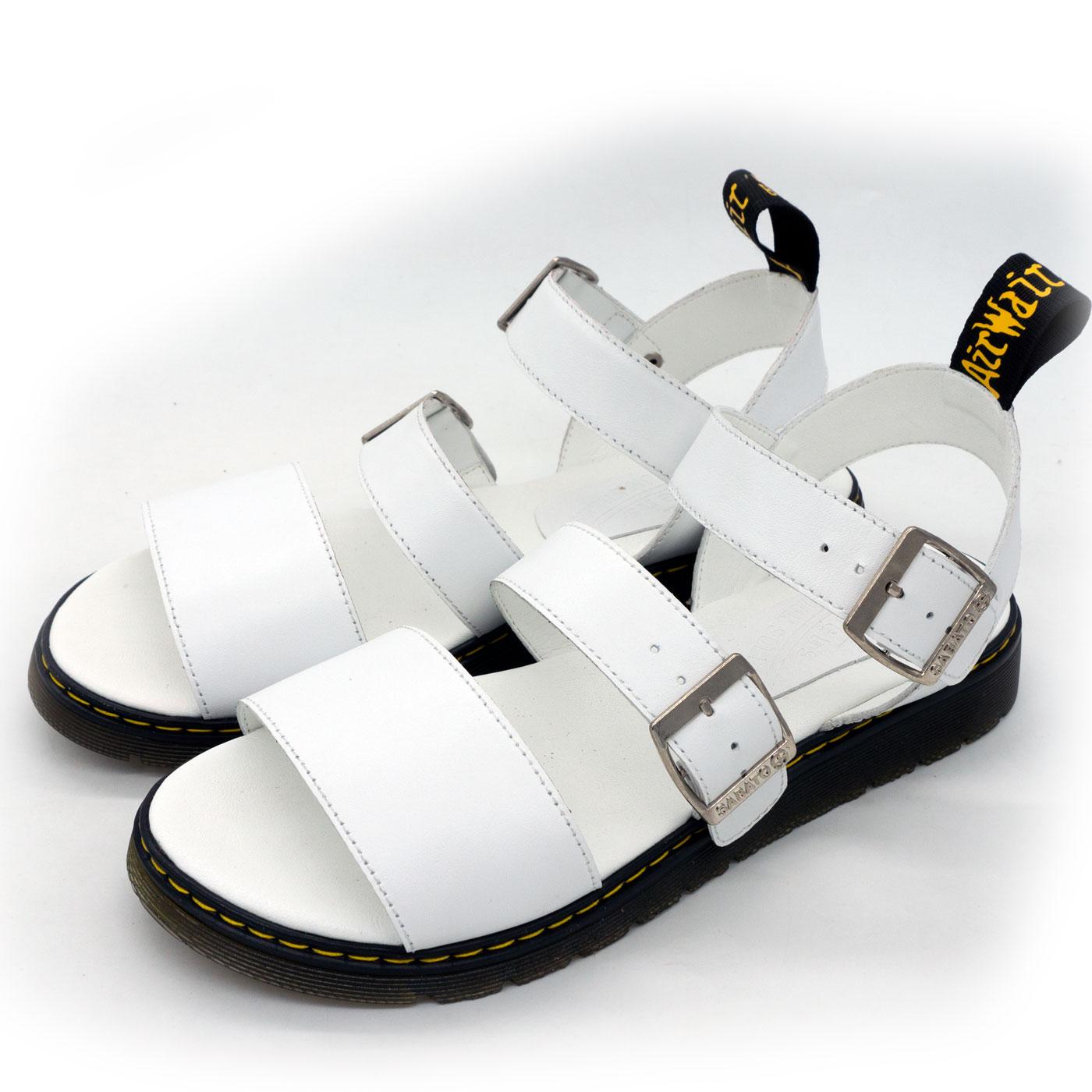 фото main Белые женские сандали Dr. Martens, натуральная кожа  main
