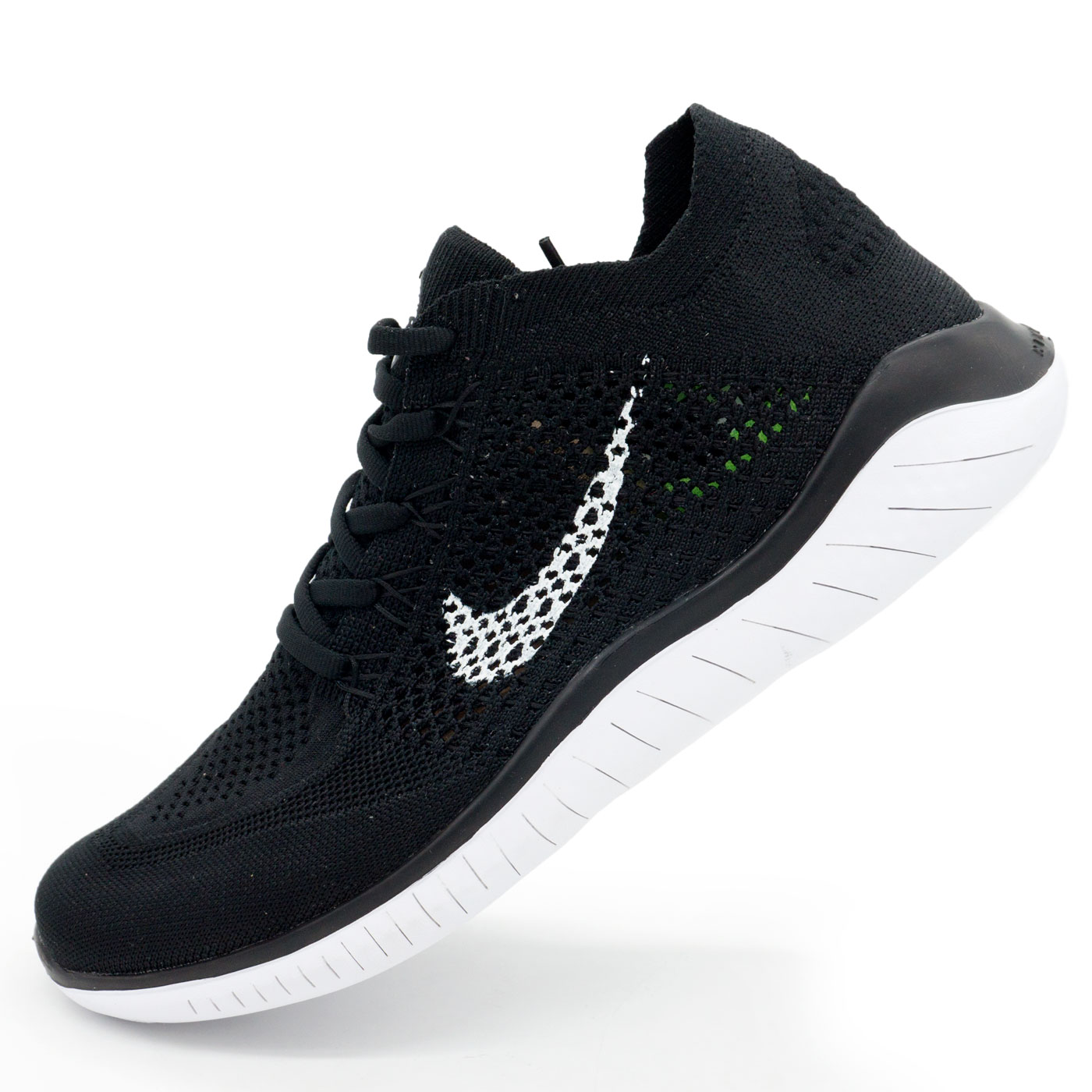 фото main Кроссовки для бега Nike Free Run Flyknit Найк Фри Ран, черно-белые main