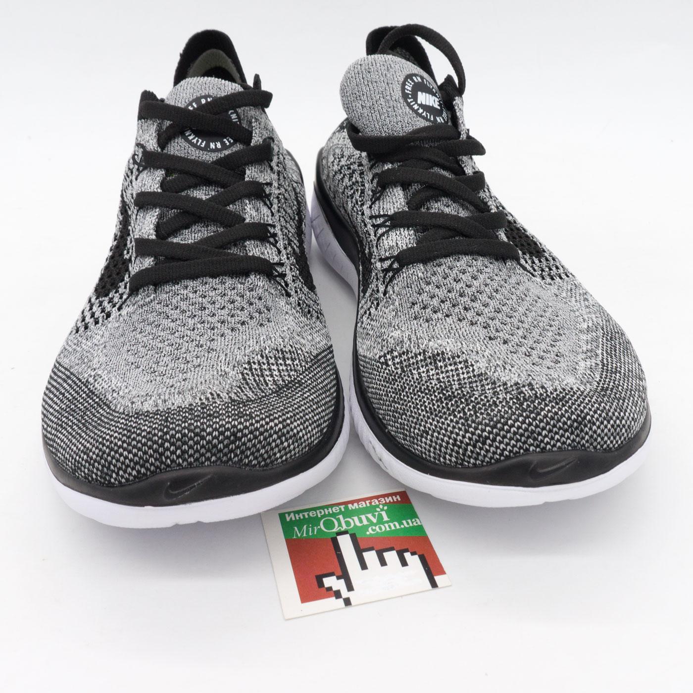 фото bottom Кроссовки для бега Nike Free Run Flyknit Найк Фри Ран, серые bottom