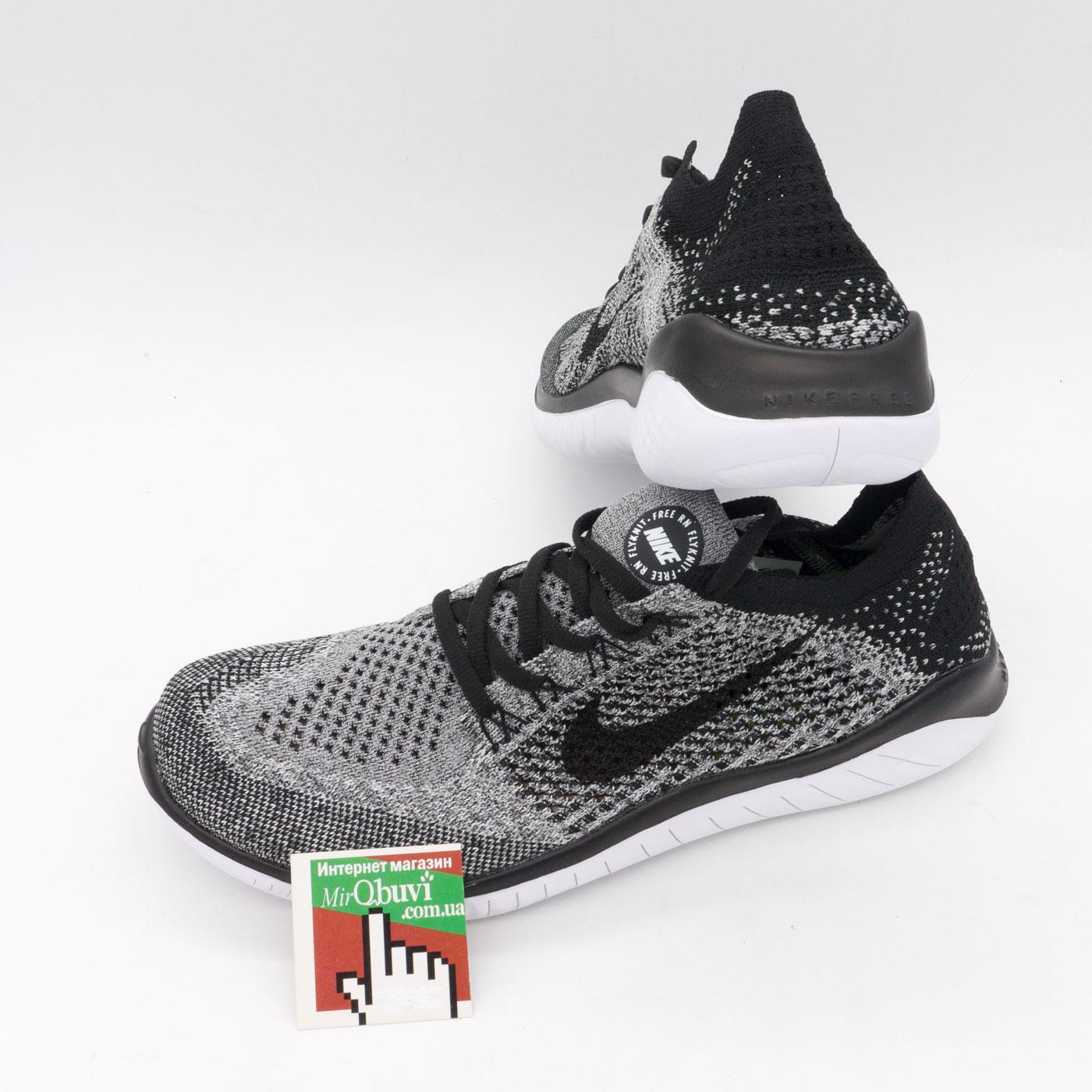 фото front Кроссовки для бега Nike Free Run Flyknit Найк Фри Ран, серые front