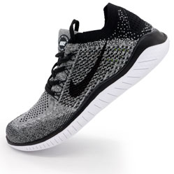 фото Кроссовки для бега Nike Free Run Flyknit Найк Фри Ран, серые