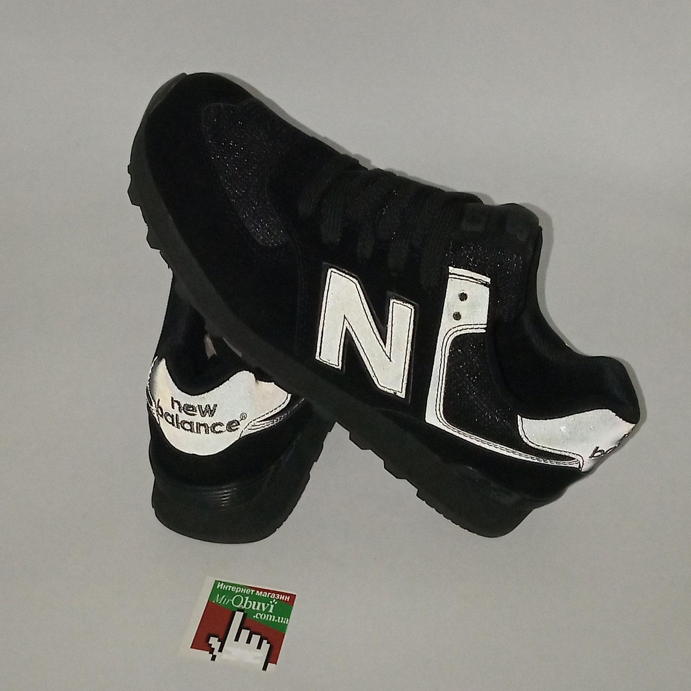 фото back Мужские кроссовки New Balance 574 полностью черные back