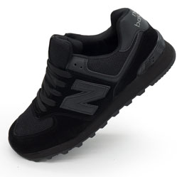 фото Мужские кроссовки New Balance 574 полностью черные