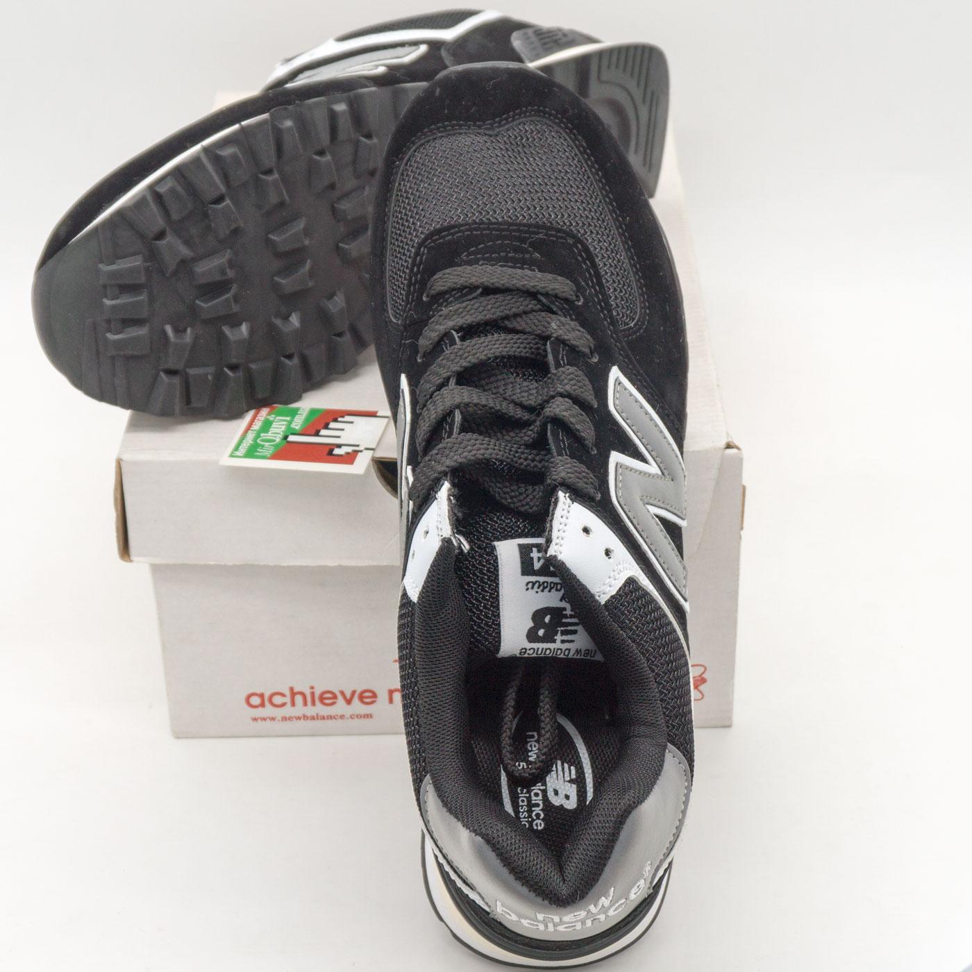 фото front Мужские кроссовки New Balance 574 черно белые front