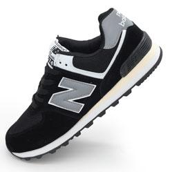 фото Мужские кроссовки New Balance 574 черно белые