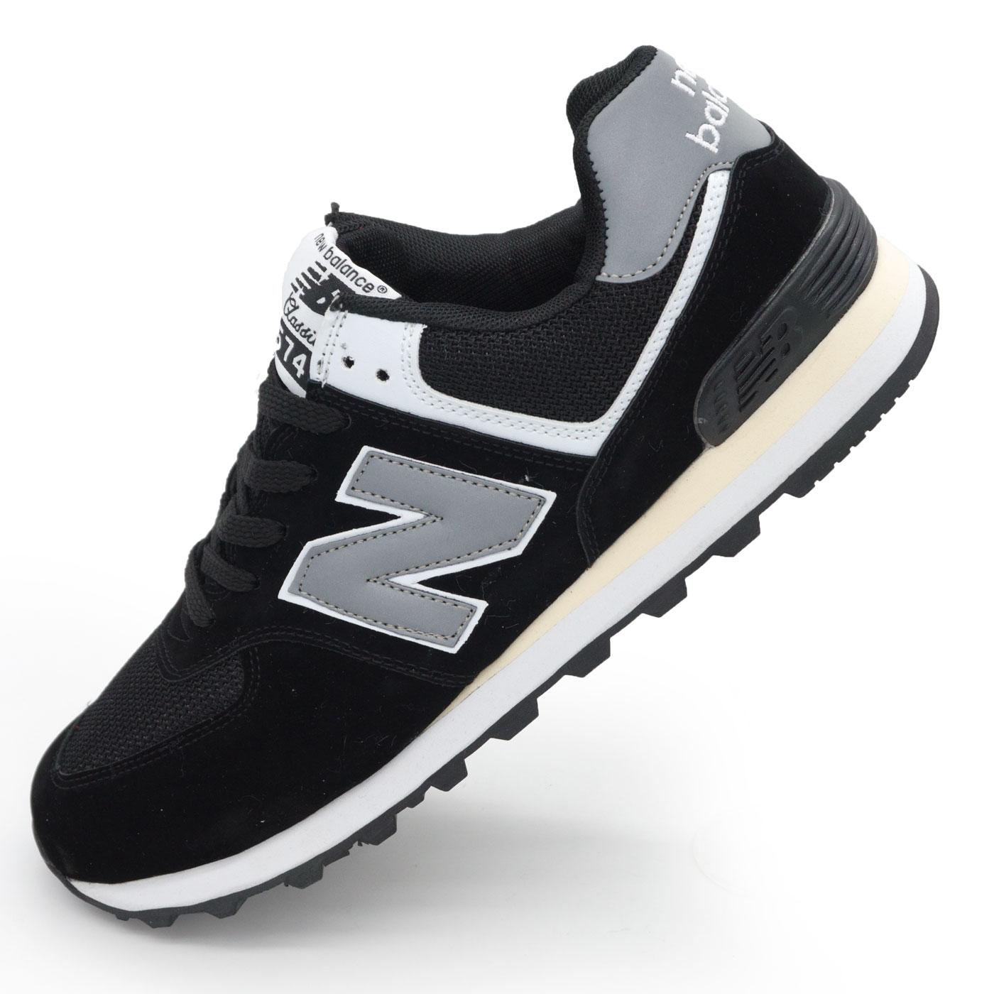 фото main Мужские кроссовки New Balance 574 черно белые main