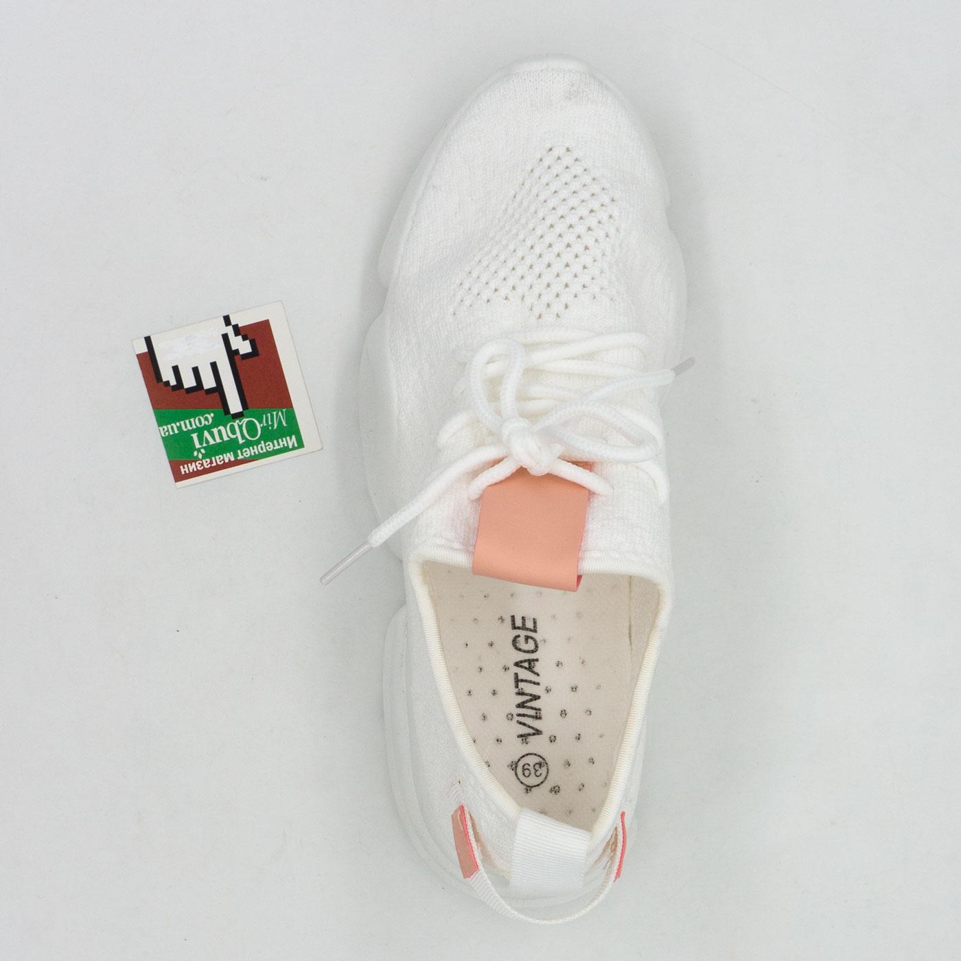 фото front Женские кроссовки Vintage RA538-2 белые front