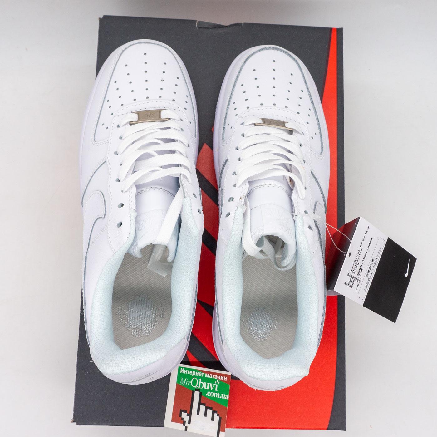 фото back Кроссовки Nike Air Force 1 низкие белые - Топ качество back