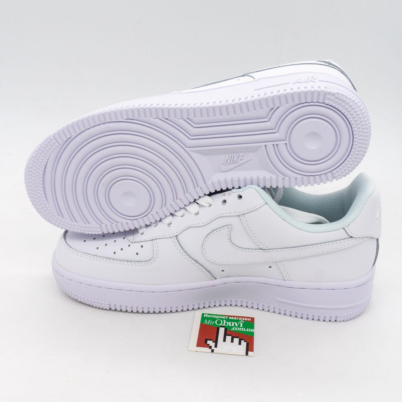 фото front Кроссовки Nike Air Force 1 низкие белые - Топ качество front