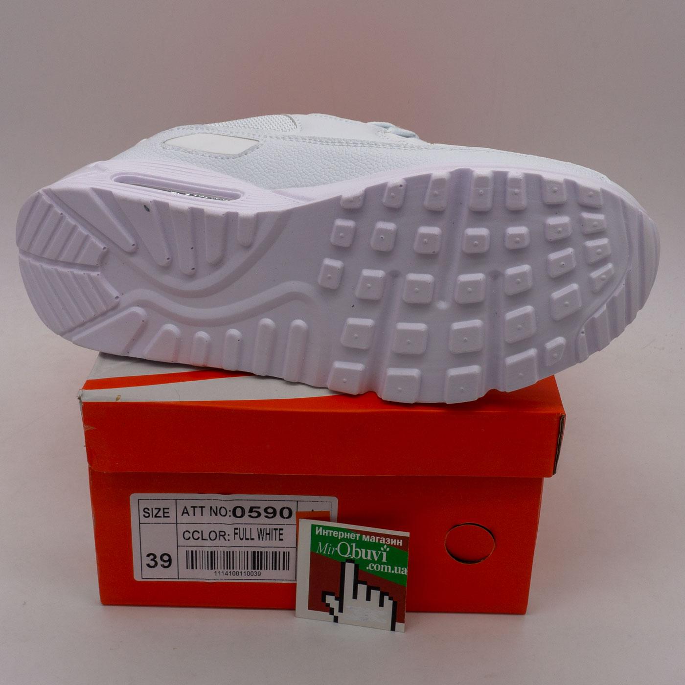 фото front Женские кроссовки max 90 0590 белые front