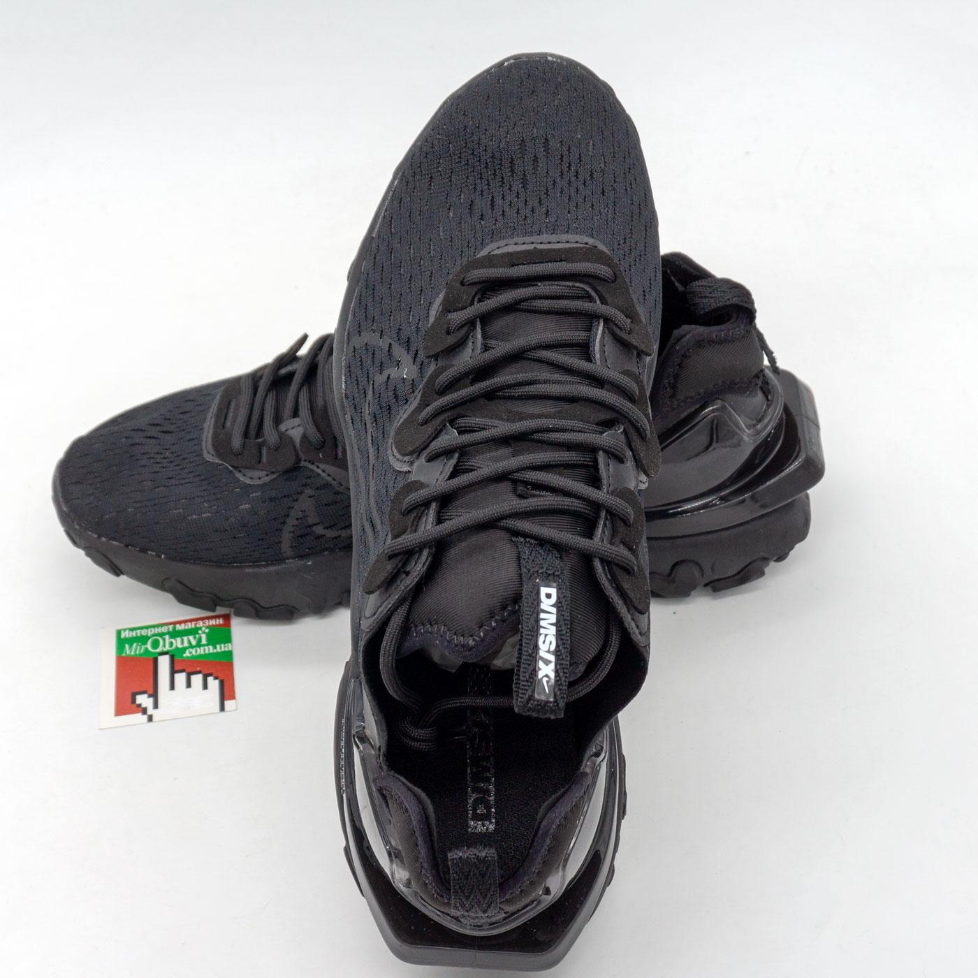 фото back Кроссовки Nike React Vision DimSix полностью черные. Топ качество! back