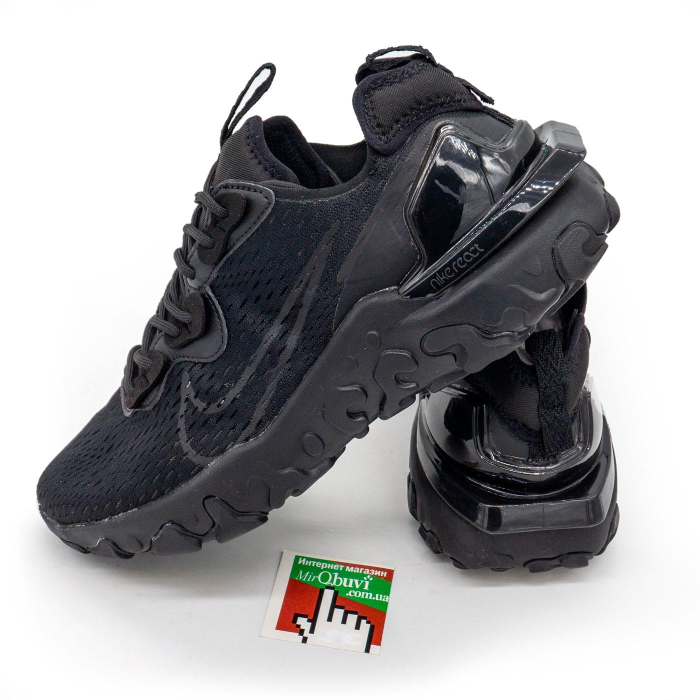 фото main Кроссовки Nike React Vision DimSix полностью черные. Топ качество! main