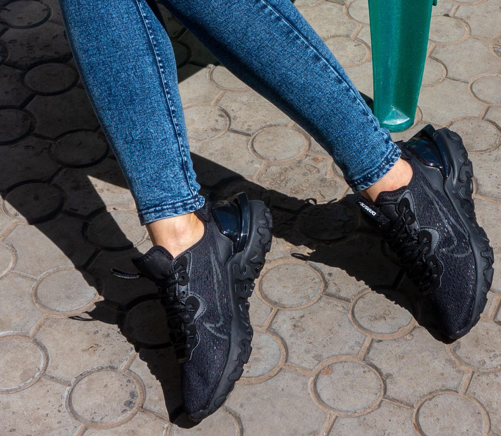 большое фото №6 Кроссовки Nike React Vision DimSix полностью черные. Топ качество!