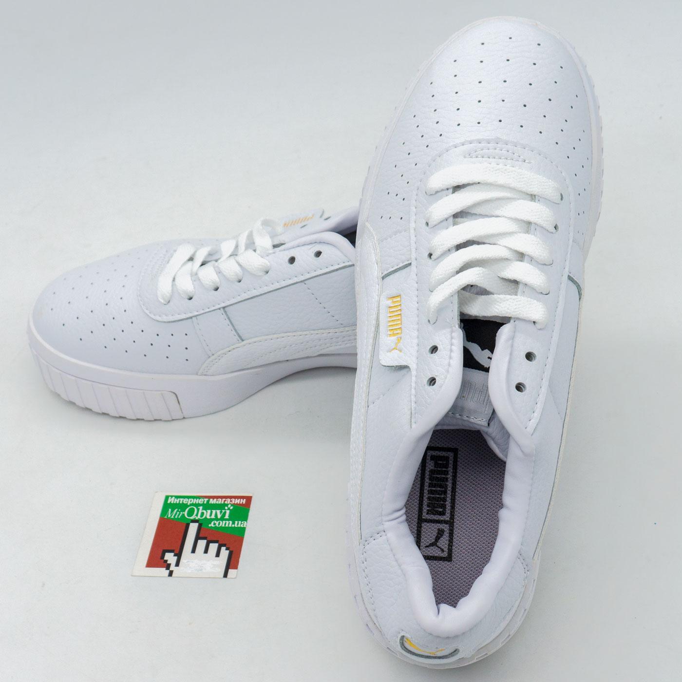 фото back Кожаные кроссовки Puma Cali белые. Топ качество! back