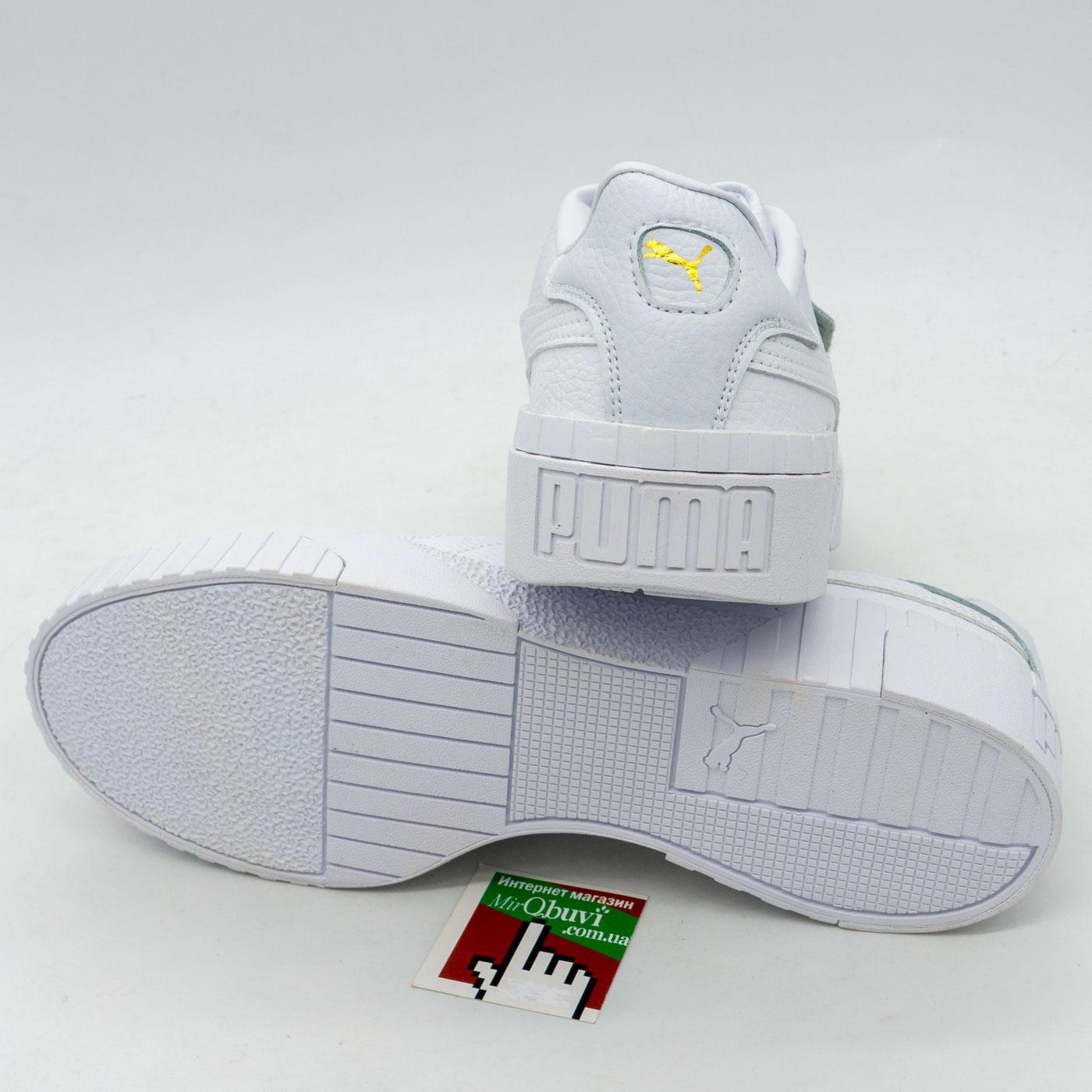 фото front Кожаные кроссовки Puma Cali белые. Топ качество! front