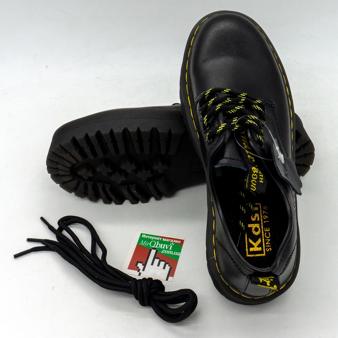 фото back Черные женские туфли Dr. Martens, натуральная кожа back