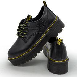 фото Черные женские туфли Dr. Martens, натуральная кожа