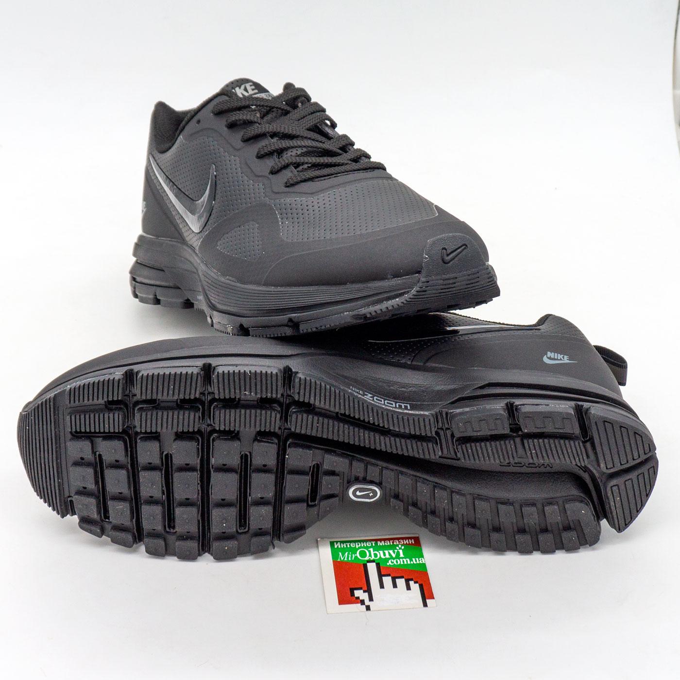 фото back Мужские осенние черные кроссовки Nike Air Pegasus +30X - Топ качество! back