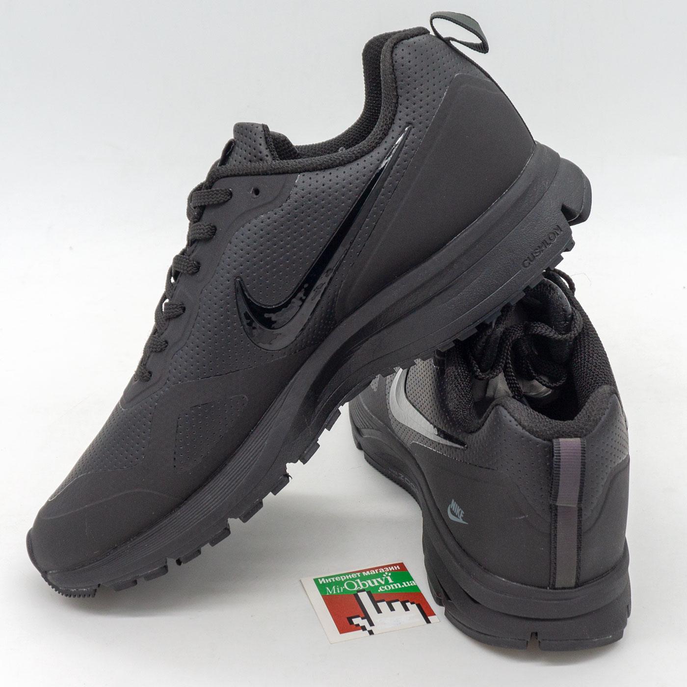фото front Мужские осенние черные кроссовки Nike Air Pegasus +30X - Топ качество! front