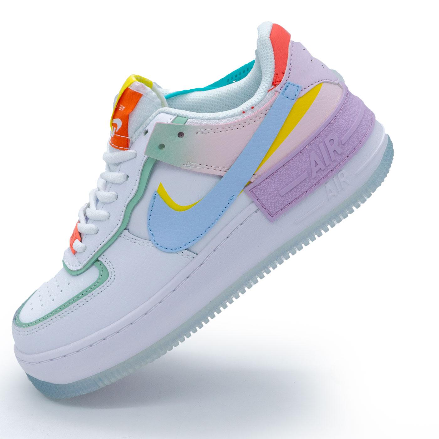 фото main Кроссовки Nike Air Force 1 Shadow бело-голубые - Топ качество main