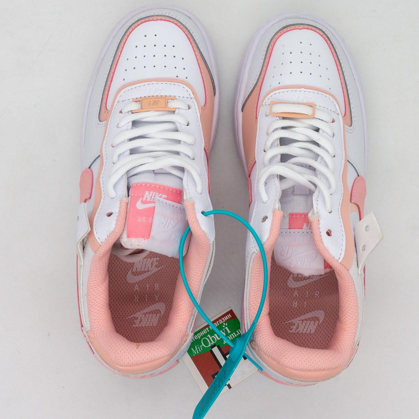 фото bottom Кроссовки Nike Air Force 1 Shadow бело-розовые - Топ качество bottom